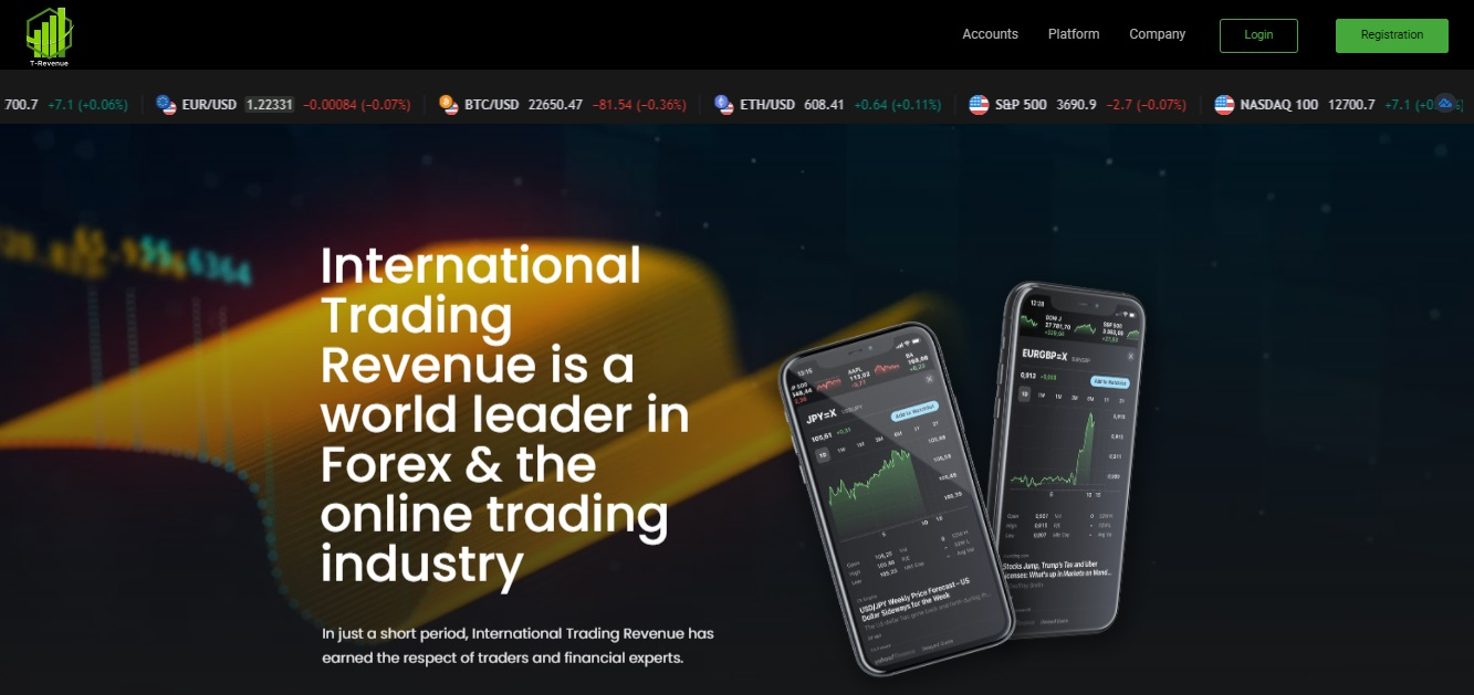 International Trading Revenue trading platform