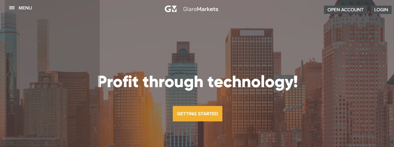 GlareMarkets trading platform