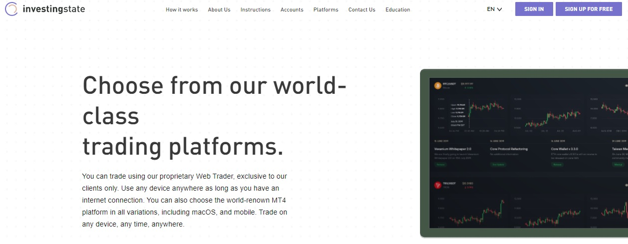 InvestingState trading platform