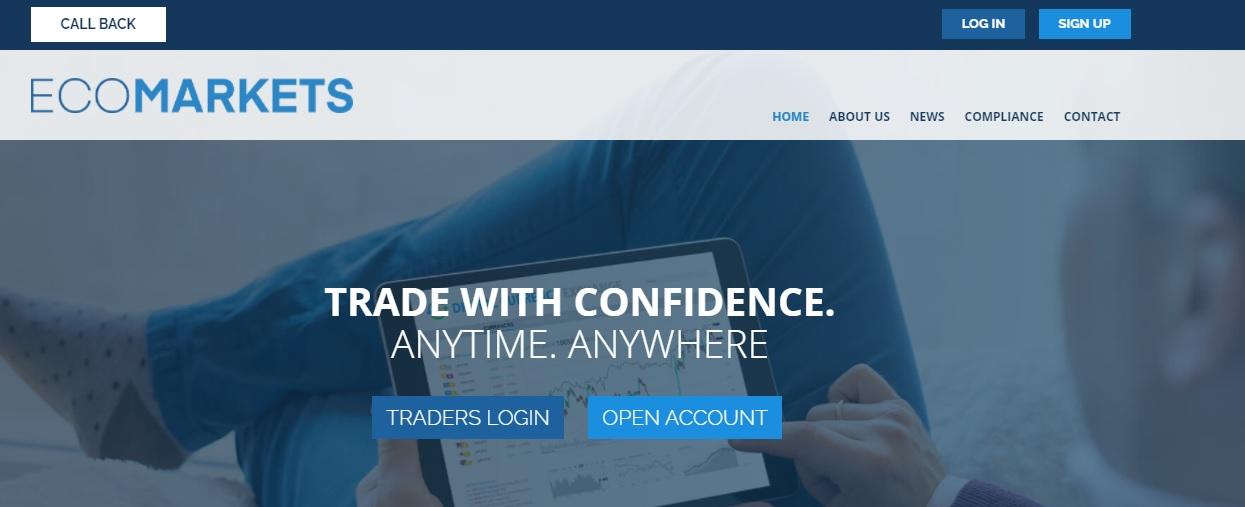EcoMarkets trading platform