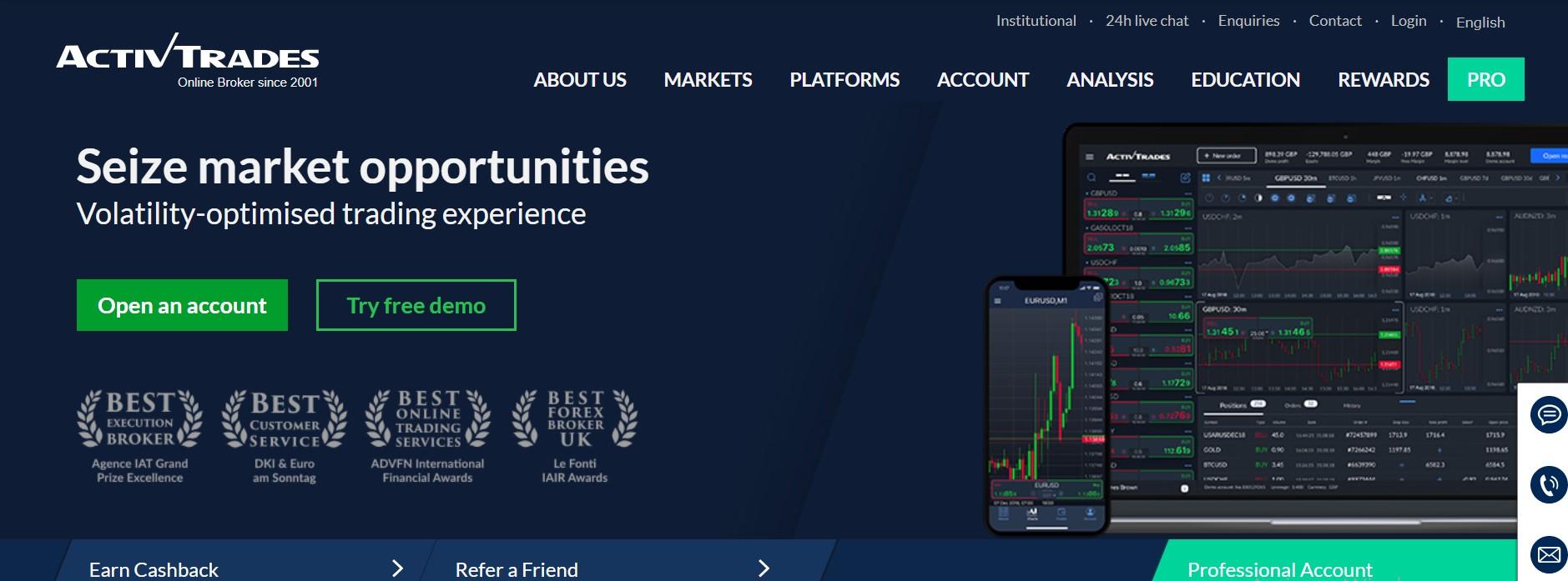 ActivTrades trading platform