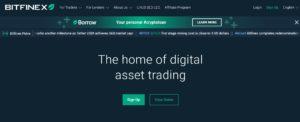 Bitfinex website