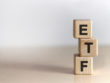 Etf,-,Exchange,Traded,Fund,Text,On,Wooden,Cubes,,On