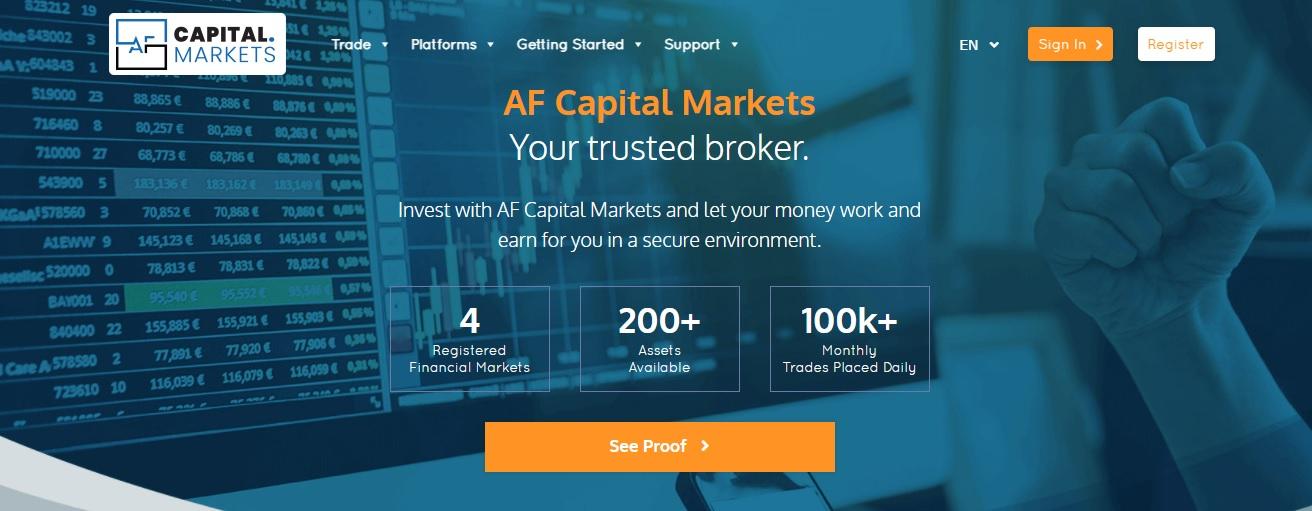 AF Capital Markets trading platform